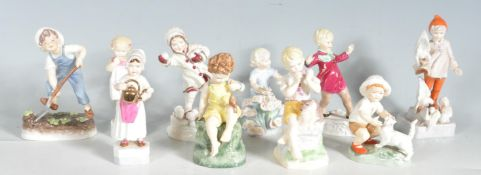 A COLLECTION OF TEEN ROYAL WORCESTER FINE BONE CHINA FIGURINES