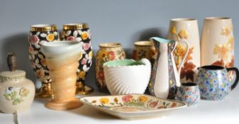 COLLECTION OF VINTAGE 20TH CENTURY CERAMIC VASES