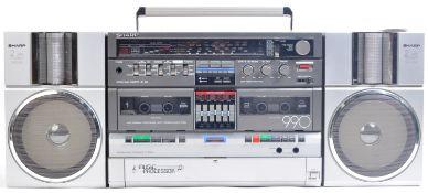 ORIGINAL 1980S SHARP GF-990G GHETTOBLASTER / BOOMBOX RADIO