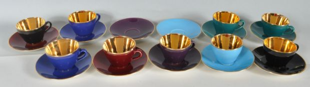 EIGHT PIECE VINTAGE RETRO DANISH COPENHAGEN CONFETTI COFFEE SET / TEA SET