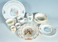 COLLECTION OF PETER RABBIT AND BUNNYKINS CERAMIC WARES