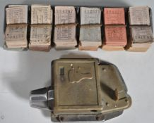 LARGE QUANTITY OF VINTAGE BUS TICKETS AND PUNCHER