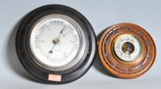 TWO 20TH CENTURY PRECISION BAROMETERS