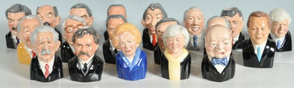 BRITISH PRIME MINISTERS CHARACTER JUGS BY MANOR COLLECTABLES.