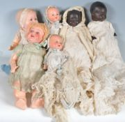 COLLECTION OF FIVE EARLY 20TH CENTURY 1930S CHILDRENS DOLLS