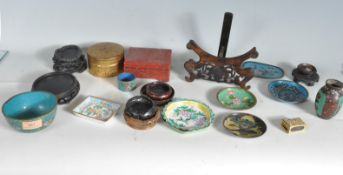 GROUP OF CHINESE CLOISONNE AND ENAMEL WARE