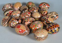COLLECTION OF EASTERN EUROPEAN PAINTED EASTER EGGS