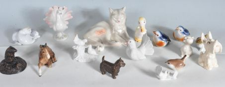 COLLECTION OF CERAMIC ANIMAL FIGURINES