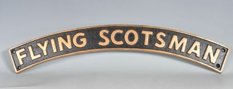 VINTAGE STYLE CAST IRON FLYING SCOTSMAN SIGN