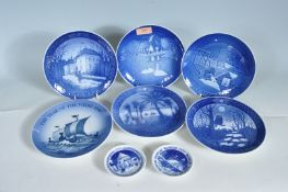 SIX ROYAL COPENHAGEN COLLECTORS PLATES