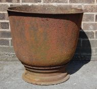 LARGE CAST IRON GARDEN PLANTER URN POT