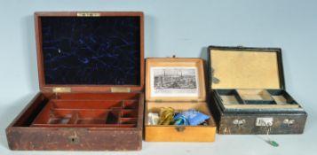 TWO VINTAGE RETRO 20TH CENTURY JEWELLERY BOXES