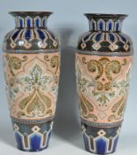 TWO 1930'S ROYAL DOULTON LAMBETH VASES ELIZA SIMMANCE ART NOUVEAU