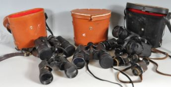 COLLECTION OF VINTAGE 20TH CENTURY FIELD BINOCULARS
