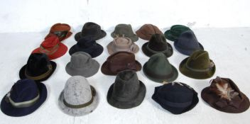 COLLECTION OF VINTAGE 20TH CENTURY GERMAN HATS