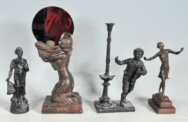 COLLECTION OF FOUR VINTAGE 20TH CENTURY FIGURINES