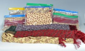 COLLECTION OF VINTAGE 1950S TOOTLE MOD STYLE PAISLEY SCARVES.