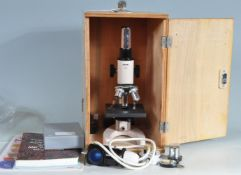 VINTAGE BRUNEL RM-1 MICROSCOPE IN CASE