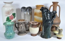 COLLECTION OF STUDIO ART POTTERY VASES