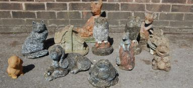 COLLECTION OF 20TH CENTURY GARDEN ORNAMENTS