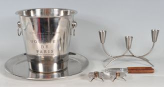 ADVERTISING CHAMPAGNE BUCKET AND SELECTION OF OTHER ITEMS