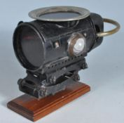 19TH CENTURY VICTORIAN TRANSPORT RELATED PARAFFIN SAFTY LAMP.