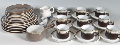 VINTAGE RETRO 20TH CENTURY CERAMIC DINNER SERVICE BY DENBY