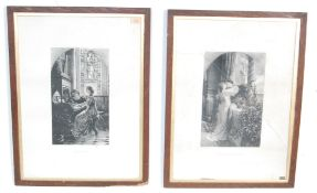 TWO LITHOGRAPH PRINTS AFTER CHARLES WALTNER
