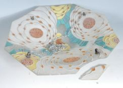 1930'S ART DECO FLORAL CEILING LIGHT SHADE