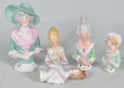 COLLECTION OF VINTAGE 20TH CENTURY PIN CUSHION HALF DOLLS