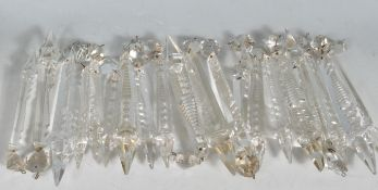 19TH CENTURY VICTORIAN CRYSTAL GLASS DROPLETS