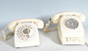 TWO RETRO MID CENTURY DESK TELEPHONES