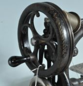 19TH CENTURY VICTORIAN WILCOX AND GIBBS HAND OPERATED SEWING MACHINE