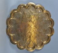 20TH CENTURY INDIAN BRASS TRAY