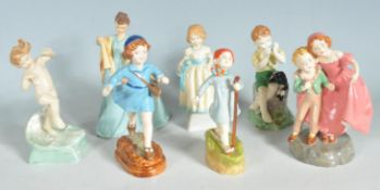 GROUP OF UNMARKED CERAMIC FIGURINES