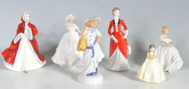 COLLECTION OF ROYAL DOULTON AND COALPORT FIGURINES