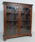 19TH CENTURY VICTORIAN MAHOGANY ASTRAL GLAZED BOOKCASE CABINET / DISPLAY CABINET