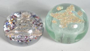 TWO GLASS PAPERWEIGHTS TO INCLUDE ONE VICTORIAN EXAMPLE