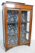 20TH CENTURY EDWARDIAN MAHOGANY INLAID DISPLAY CABINET
