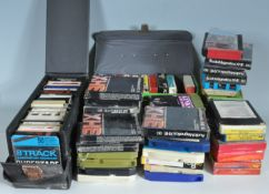 LARGE COLLECTION OF RETRO VINTAGE LATE 20TH CENTURY 8 TRACK CASSETTES