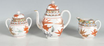 1930'S CHINESE ORIENTAL THREE PIECE CERAMIC TEA SERVICE