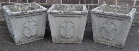 THREE VINTAGE RETRO 20TH COMPOSITE PLAT POTS