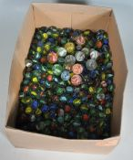LARGE QUANTITY OF GLASS MARBLES