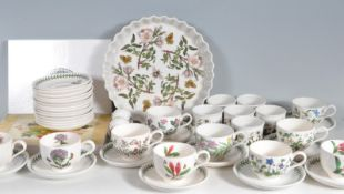 PORTMERION BOTANIC GARDEN PATTERN CERAMIC TEA SET