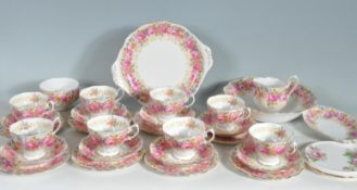 VINTAGE 20TH CENTURY ROYAL ALBERT SERENA PATTERN TEA SERVICE