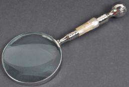 VINTAGE DESKTOP MAGNIFYING GLASS