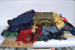 LARGE COLLECTION OF VINTAGE NAUTICAL THEMED MENS TIES AND SCARVES.