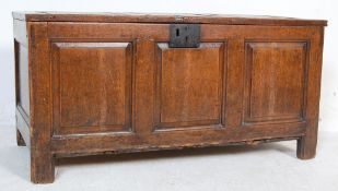 17TH CENTURY OAK PANELLED COFFER