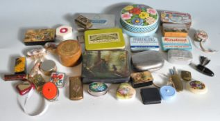 COLLECTION OF VINTAGE 20TH CENTURY TIN BOXES AND MORE