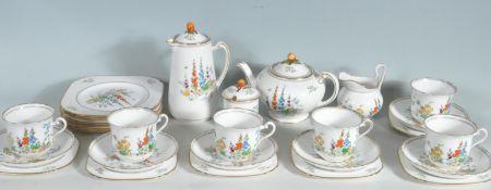 VINTAGE TUSCAN FLORAL TEA SERVICE